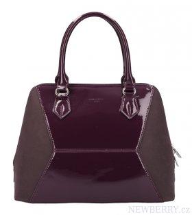 fd72930d56 Vínová nadčasová dámská kabelka do ruky David Jones   NEWBERRY ...