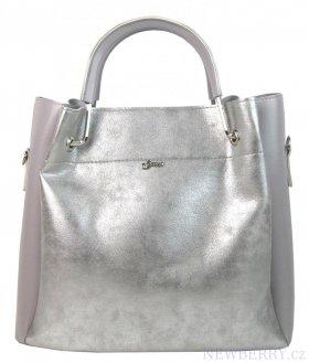 965fe95d3f Šedo-stříbrná elegantní dámská kabelka S728 GROSSO   NEWBERRY ...