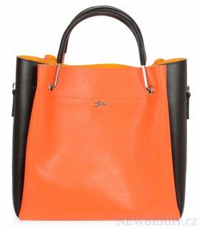 421533ba82 Neonová oranžová elegantní dámská kabelka S728 GROSSO   NEWBERRY ...