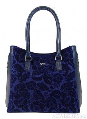42b68f235c Modrá elegantní kabelka s potiskem S727 GROSSO   NEWBERRY ...
