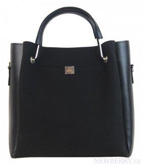 144aff03be Černá matná elegantní dámská kabelka S728 GROSSO   NEWBERRY ...