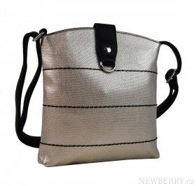 Malá dámská crossbody kabelka H17377 zlatá s černým páskem ... 8d2f33b9868