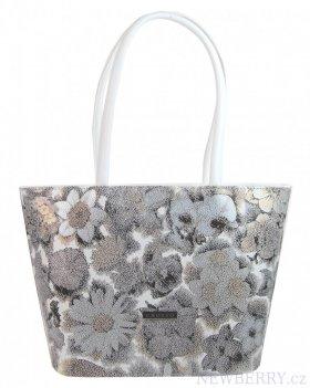dc390f1ec7 Bílá dámská kabelka v motivu květin S533 GROSSO   NEWBERRY ...
