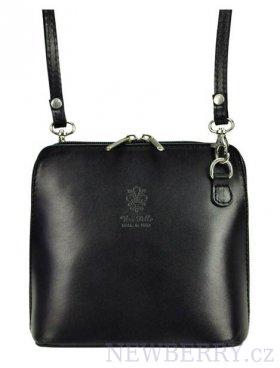 c1f39e49ce Kožená malá dámská crossbody kabelka černá   NEWBERRY - velkoobchod ...