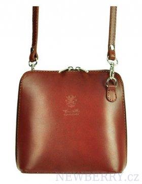 05b0824a05 Kožená malá dámská crossbody kabelka hnědá   NEWBERRY - velkoobchod ...
