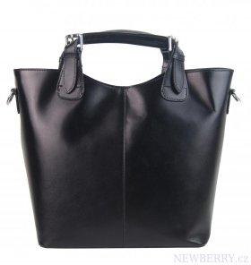 90a562c917 Velká kožená dámská shopper kabelka černá   NEWBERRY - velkoobchod ...