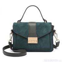 Stylová zelená menší dámská kabelka Miss Lulu b6fc0ed2474