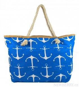 38199c820f Velká modrá lehká plážová taška přes rameno H-106-2   NEWBERRY ...