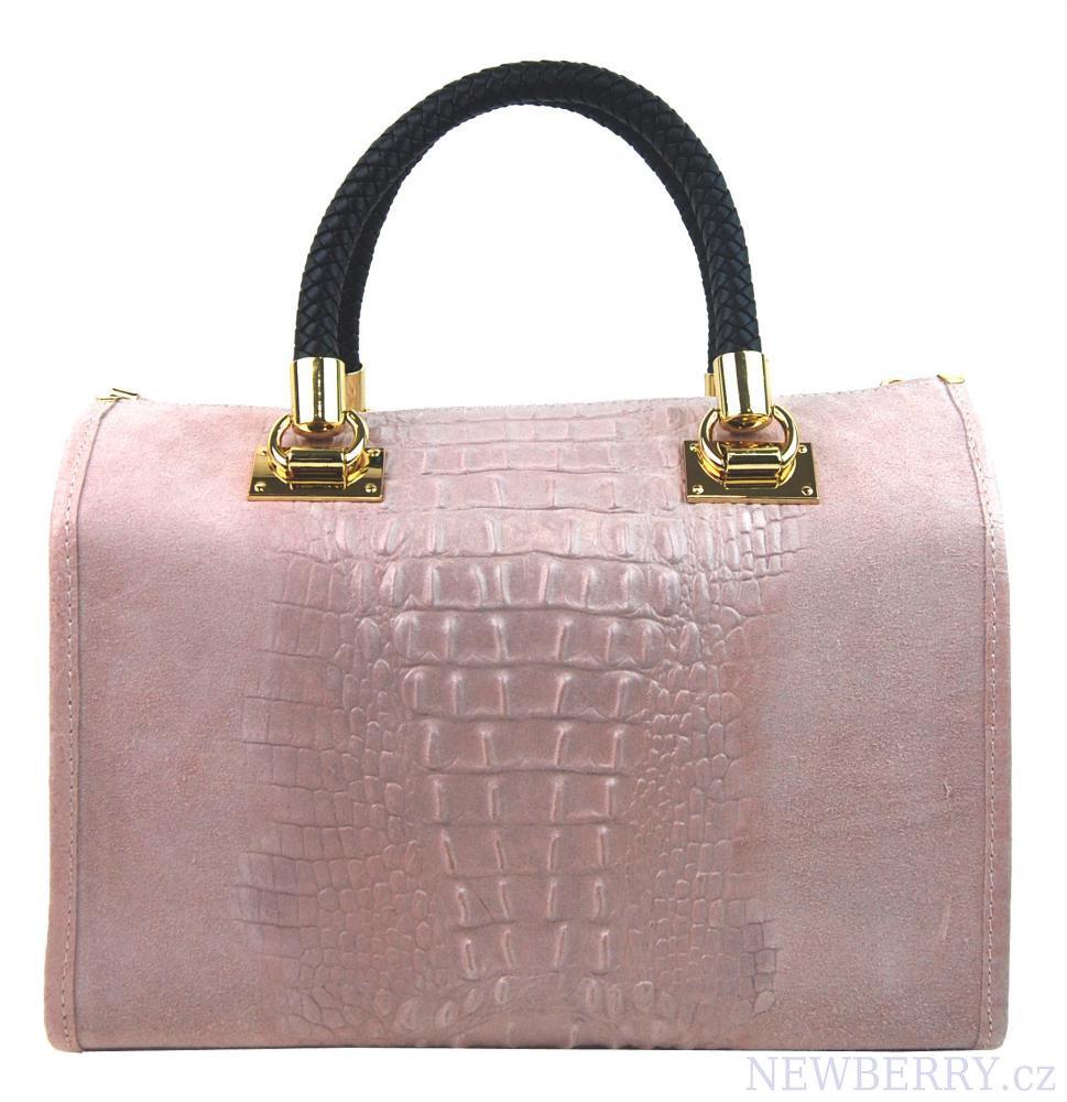 52d99890dd1b Kožená dámská kabelka Marianne růžová   NEWBERRY - velkoobchod ...